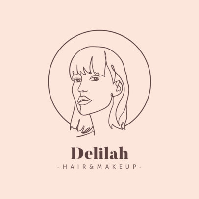 Beauty Logo Generator with a Woman's Face Graphic 2960b