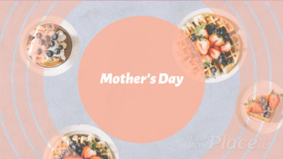 Mother's Day Intro Video Maker for Restaurant Deals Featuring Geometric Transitions 1163a 956