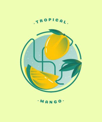 Minimalistic T-Shirt Design Creator with a Mango Illustration 834d-el1