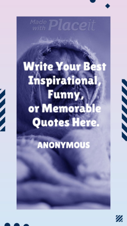Sweet Instagram Story Video Maker for an Inspirational Quote 316
