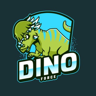 Logo Creator for a Featuring a Raging Dinosaur 2953c