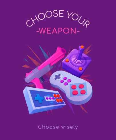 Retro T-Shirt Design Generator Featuring Classic Gaming Controllers 2284d