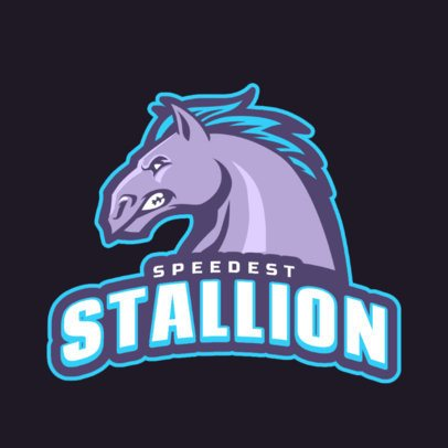 Online Logo Generator Featuring an Angry Horse Illustration 1745q-2964