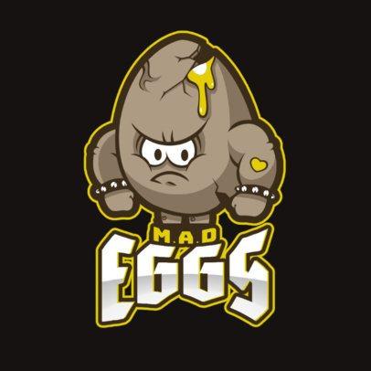 Online Logo Maker Featuring an Angry Egg Cartoon 1749u-2964