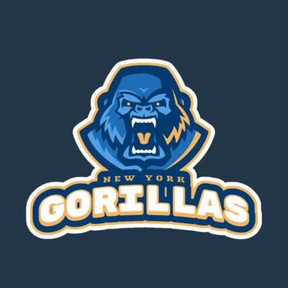 Sports Logo Generator with an Angry Gorilla Graphic 1651q-2964