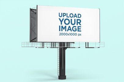 Billboard Mockup Featuring a Customizable Background 2861-el1