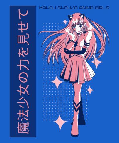 T-Shirt Design Maker Featuring Anime Girl Illustrations 2294