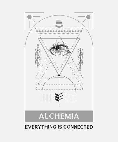 Sacred Geometry T-Shirt Design Template 274b-el1