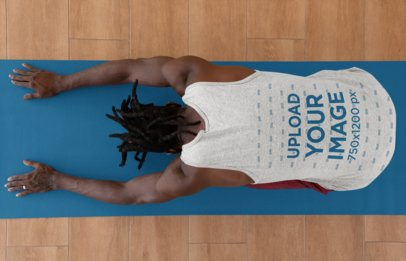 Tank Top Mockup of a Relaxed Man Doing Yoga 31109