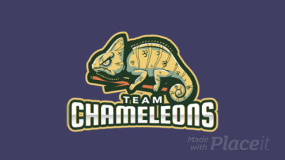 Animated Logo Template Featuring a Chameleon 1649m-2964