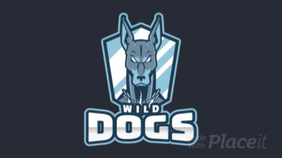 Animated Sports Logo Generator Featuring an Aggressive-Looking Dog 1560o 2964