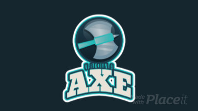 Animated Gaming Logo Creator with a Viking Axe Clipart 2613gg-2964