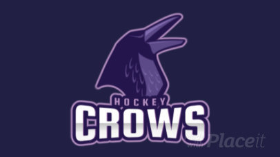 Hockey Team Logo Maker Featuring an Animated Crow 1560p-2964