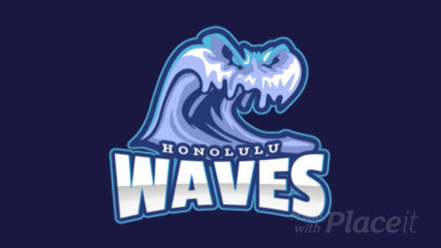 Animated Logo Creator Featuring an Angry Wave Graphic 1649n-2964