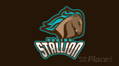 Animated Logo Maker Featuring a Raging Horse 336x-2964