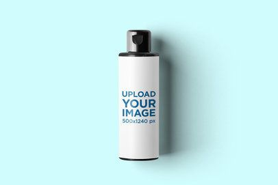Mockup of a Plastic Cream Bottle 2567-el1