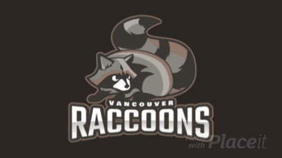 Animated Mascot Logo Generator for Sports Teams Featuring a Raccoon Illustration 1649p 2964