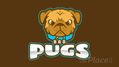 Animated Mascot Logo Template for a Sports Team With an Angry Pug Clipart 1649q 2964
