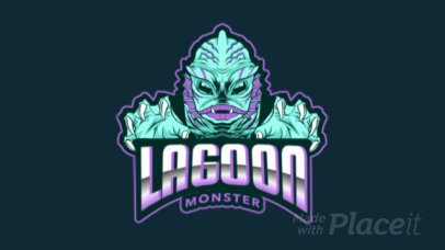 Gaming Logo Maker Featuring an Animated Aquatic Monster Clipart 383rr-2964
