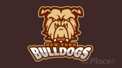 Sports Logo Generator Featuring an Aggressive Animated Bulldog Illustration 336y-2964
