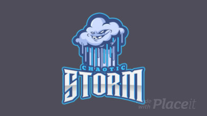 Online Logo Generator Featuring an Animated Stormy Cloud Cartoon 1750ii-2964