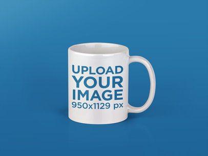 Single Coffee Mug Mockup Over a Transparent Background a11994
