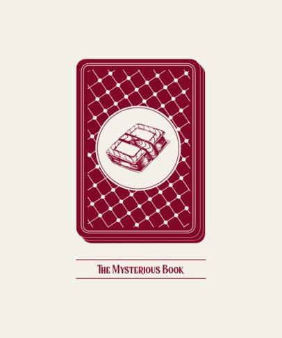 Tarot T-Shirt Design Maker with the Illustration of a Mystic Book 280b-el1