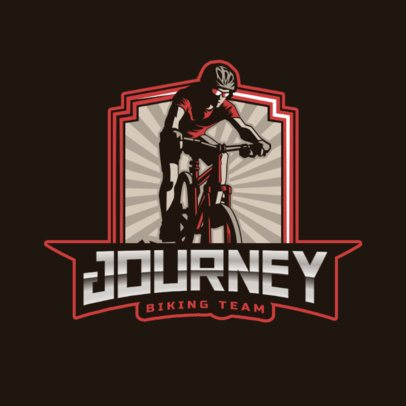 Sports Logo Template Featuring Mountain Biking Graphics 2968