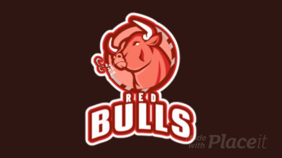 Animated Logo Template with a Bull For a Gaming Team 1745r-2964