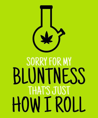 T-Shirt Design Generator Featuring a Cannabis Pipe Graphic 2258d