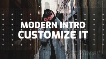 Modern Intro Maker Featuring Text and Logo Animations and Glitch Effects 345