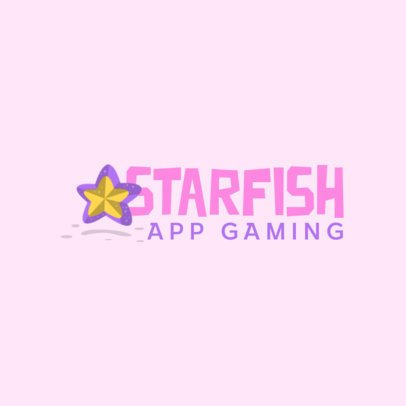 Mobile Gaming Logo Generator with a Starfish Graphic 870b-el1