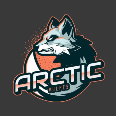 Online Logo Maker with an Aggressive Arctic Fox Illustration 2975e