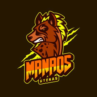 Logo Maker for a Gaming Team Featuring an Evil Hyena Graphic 2975k