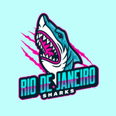 Online Logo Template Featuring a Raging Shark 2975r