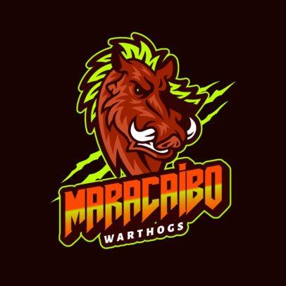 Logo Generator Featuring an Aggressive Warthog 2975u