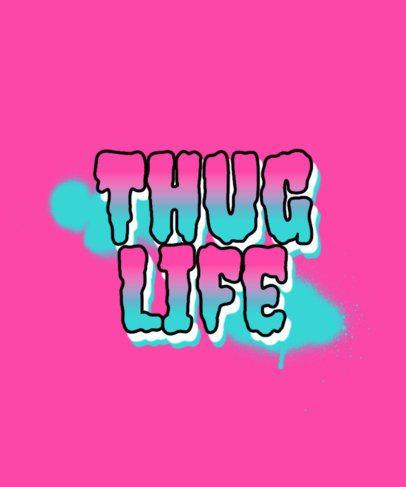 Graffiti-Styled T-Shirt Design Creator with a Phrase 286a-el1