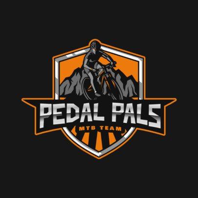 Placeit Sports Logo Creator With An Mtb Biker Illustration