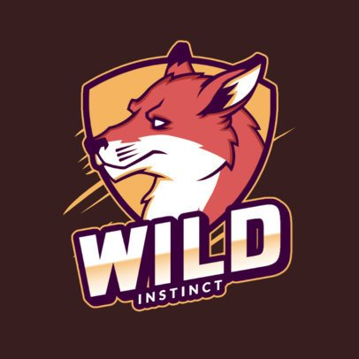 Logo Maker for a Sports Team with a Wild Wolf Illustration 2975m
