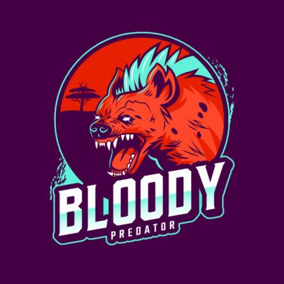 Logo Maker Featuring a Wild Hyena for a Sports Team 2975w