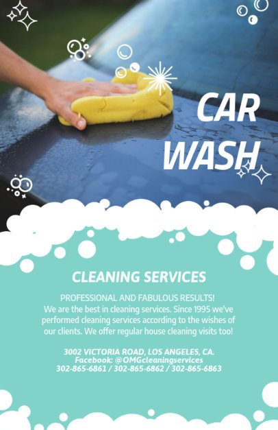 Car Wash Flyer Template with Custom Graphics 283a