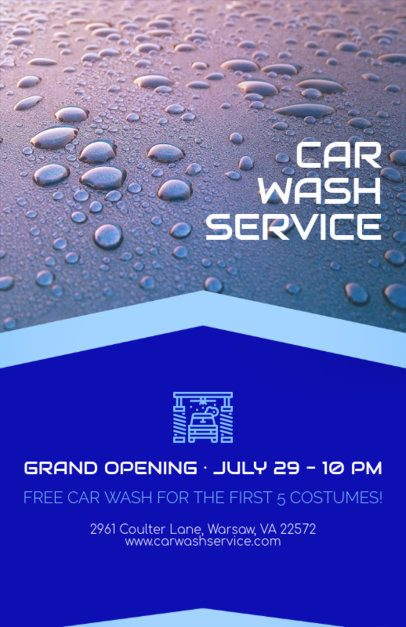 Flyer Maker for Car Wash Business with Car Wash Images 188b