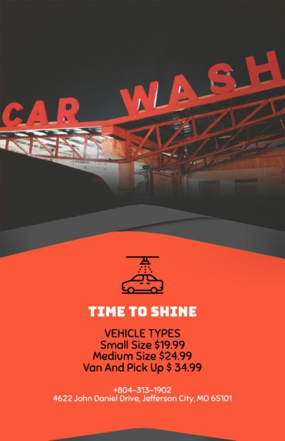 Flyer Template Maker for Automatic Car Wash with Car Photos 188e