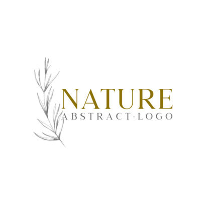 Abstract Logo Template with a Plant Graphic 912a-el1