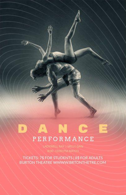 Cool Flyer Maker for Dance Performance 139d