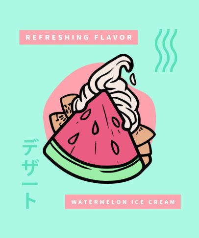 T-Shirt Design Generator with a Kawaii-Styled Sweet Watermelon Graphic 311c-el1