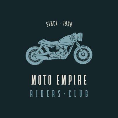Biker Club Logo Maker Featuring a Vintage Style 925C-el1