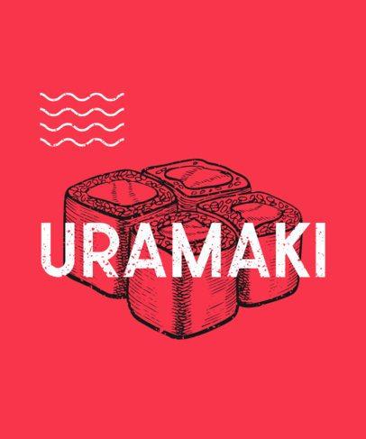 T-Shirt Design Maker Featuring Sushi Graphics 293a-el1