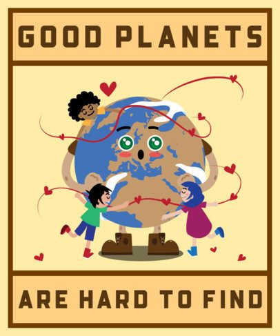 Earth Day T-Shirt Design Generator Featuring Joyful Kid Graphics 2292e