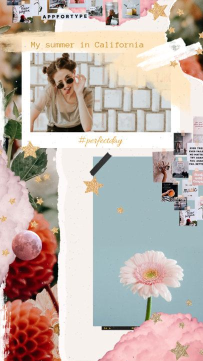 Instagram Story Design Template for a Spring-Related Post 2308j